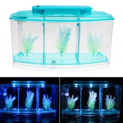 Triple tanque Betta con luces LED